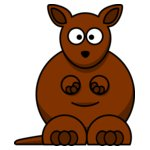 lemmling Cartoon kangaroo