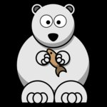 lemmling Cartoon polarbear