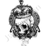 skull with crown vector