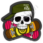 TK052 sticker divers skate or die   2